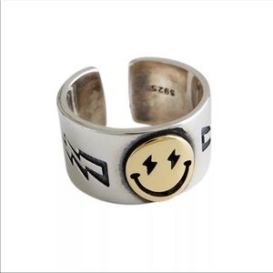 smiley face 925 ring
